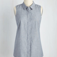 At Your Button Call Top | Mod Retro Vintage Short Sleeve Shirts | ModCloth.com