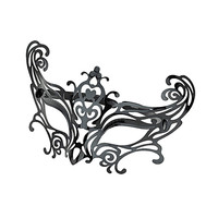 Black Plastic Filigree Mask - New In This Week  - New In
