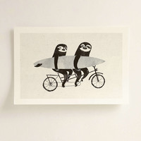 Luka Va Tandem Sloths Art Print - Urban Outfitters