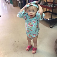 Baby & Toddler Turquoise Floral Romper