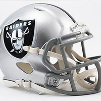 OAKLAND RAIDERS RIDDELL SPEED FOOTBALL MINI HELMET NEW IN RIDDELL BOX