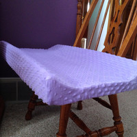 Lavender / Lilac Minky Fitted Contoured Changing Pad Cover - Shannon Fabrics Cuddle Dimple Minky