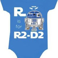 Star Wars R Is For R2D2 Snapsuit Infant Onesuit Baby Romper - Star Wars - | TV Store Online