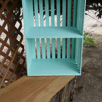"""Crate inspired """"choose your color"""" night stand/bookshelf/end table. Real wood. Home decor. Crate."""