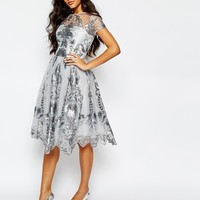 Chi Chi London Midi Prom Dress with Delicate Sequin at asos.com