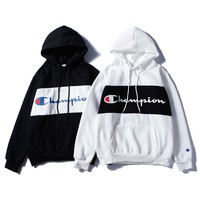 Champion classic men and women hooded velvet sweater coat sweater