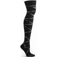Barbed Wire Over the Knee Sock