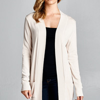 Oatmeal Long Sleeve Cardigan