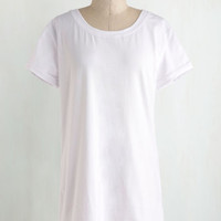 Travel Long Short Sleeves Simplicity on a Saturday Tunic in White