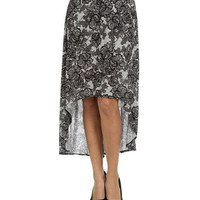 Lace High Low Maxi Skirt | Shop Bottoms at Wet Seal