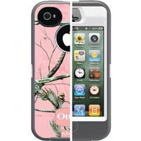 Otterbox Defender Realtree Series Hybrid Case & Holster for iPhone 4 & 4S - Retail Packaging - Pink/APC Camo Pattern