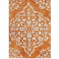 Lace Orange Over Dyed Rug