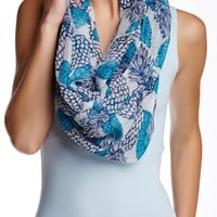 Pineapple Soft Ruched Infinity Scarf