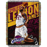 Cleveland Cavaliers NBA Woven Tapestry Throw Blanket (48x60)