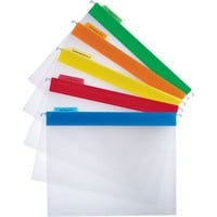 Staples® Clear Poly Hanging File Folders, Letter, Assorted Colors, 25/Box | Staples