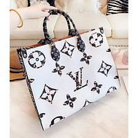 LV Louis Vuitton New fashion monogram print leather contrast color high quality shoulder bag women handbag