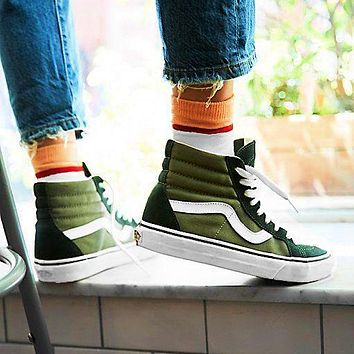 Vans Men's and Women's High-Top Casual Canvas Flat Sneakers Shoes