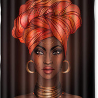 MULTIPLE Afrocentric Bathroom Shower Curtains - Pro Black Home Decorations / Decor