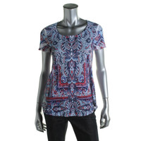 Style & Co. Womens Sublimation Printed Pullover Top