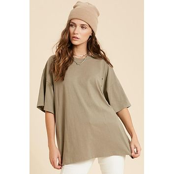 Cool With That Tee - Light Olive