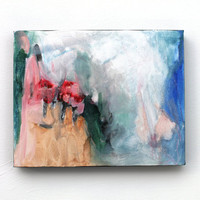 """Original Abstract Painting Small Canvas Urban Contemporary """"Mountain Flowers"""""""