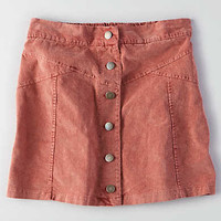 Don't Ask Why Button-up Corduroy Skirt, Rust