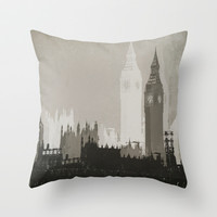 The Big Smoke Throw Pillow by Ally Coxon