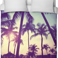 Palm Trees Bed Spread