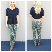 Army Camo Skinny Pants
