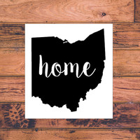 Ohio Home Decal | Ohio Decal | Homestate Decals | Love Sticker | Love Decal  | Car Decal | Car Stickers | 127