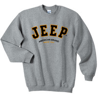 All Things Jeep - Jeep Crew Sweatshirt with Jeep® Logo (Grey)