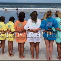 Monogrammed Fishing Shirt. Great for a swimsuit cover up SALE