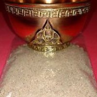 Triquetra Copper Offering Bowl 3 Inch with Sand Incense Burner Tibetan Ritual