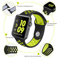 Replacement Silicone Wrist Bracelet Sport Band Strap For Apple Watch