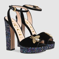 shosouvenir :GUCCI:  Women Velvet sandal with