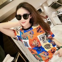 Womens Versace Tshirt Ice silk cotton cheap fashion luxury brand Casual high quality v_xuzhenyu99