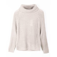 Long Sleeve Cowl Neck Knit Sweater Top (CLEARANCE)
