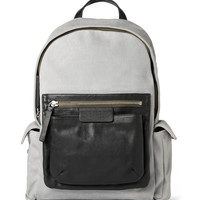 Marc by Marc Jacobs - 2 Pock & Biggie Leather-Trimmed Waxed-Twill Backpack | MR PORTER