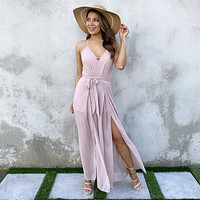 Never Been Better Mauve Jumpsuit