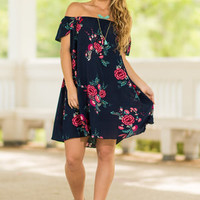 Keep Your Eyes On Me Dress, Navy