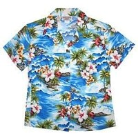 lagoon hawaiian lady blouse