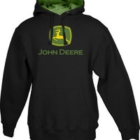 John Deere Hooded Logo Sweatshirt Black