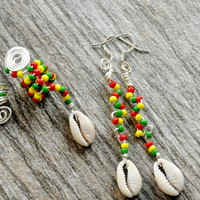 Loc Coils, I Heart My Locs, African Hair Jewelry, Natural Hair Jewelry, Hair Adornment,  Rasta, Dreadloc Jewelry, LOCS, Rasta Jewelry