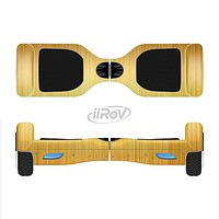 The Bright Brushed Gold Surface Full-Body Skin Set for the Smart Drifting SuperCharged iiRov HoverBoard