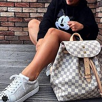 Louis Vuitton LV large capacity backpack for men and women
