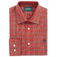 Lauren Ralph Lauren Big Boys Classic-Fit Red Plaid Shirt - 16R Red