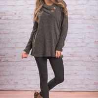 Perfect Example Tunic, Charcoal