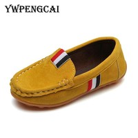 2017 Autumn Kids Flock PU Leather Casual Shoes Boys Loafers All Sizes 21-36 Boys Slip-on Soft Breathable Shoes 7HV0736