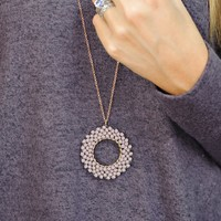 * Lizzy Crystal Beaded Necklace : Lavender