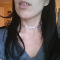Ultra Sleek Choker Necklace in Silver Or Gold